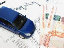 Der russische Rubel und die Finanzierung Lizenzfreie Stockfotografie