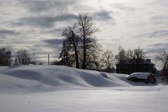 Der russische Winter Lizenzfreies Stockfoto
