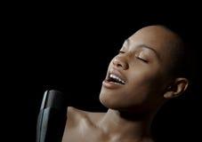 Der Sänger stockbild