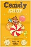 Der Süßigkeits-Shop Stockfotografie