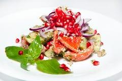 Der Salate, ersten und zweiter Kurse der Aperitifs, Suppe Stockbilder