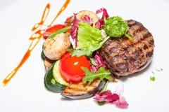 Der Salate, ersten und zweiter Kurse der Aperitifs, Suppe Lizenzfreies Stockbild