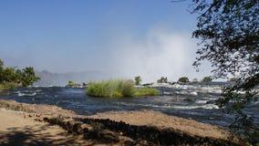 Der Sambesi in Afrika Lizenzfreies Stockfoto
