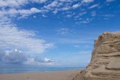 Der Sand, der gelegt wird Stockbild