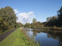 Der Sankey-Kanal, Warrington Stockfotos