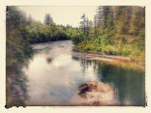 Der santiam Fluss n versieht Oregon mit einem Gatter Stockfotografie
