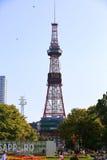 Der Sapporo Fernsehturm Stockfotografie