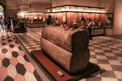 Der Sarkophag des Priesters des Gottes Ptah Stockfotografie