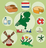 Der Satz des nationalen Profils des Hollands Stockbild