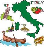 Der Satz des nationalen Profils des Italiens Lizenzfreie Stockfotografie