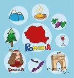 Der Satz des nationalen Profils des Rumäniens Lizenzfreies Stockfoto