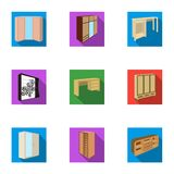 Der Satz von Bildern auf dem Thema von verschiedenen Betten des Schlafes und des Restes für jeden Geschmack und Farbe Bettikone i Lizenzfreie Stockfotos