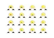 Der Satz von Emoticons in den Windeln Lizenzfreie Stockfotografie