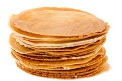 Der Satz von frisch waffle Plätzchen erhellt lizenzfreie stockfotografie