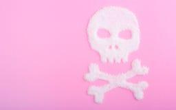 Der Schädel hergestellt vom Zucker abbrüche Lizenzfreie Stockfotografie