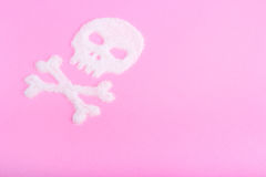Der Schädel hergestellt vom Zucker abbrüche Stockbilder