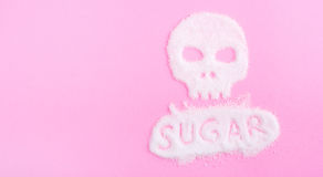 Der Schädel hergestellt vom Zucker abbrüche Lizenzfreie Stockfotos