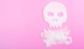 Der Schädel hergestellt vom Zucker abbrüche Lizenzfreies Stockfoto