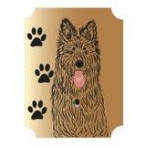 Der Schäferhund ist ein schöner großer Hund Lizenzfreies Stockfoto