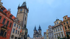 Der schöne alte Marktplatz, Prag Stockfoto