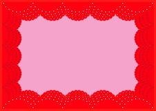 Der schöne helle rote Spitzerahmen Lizenzfreie Stockfotografie