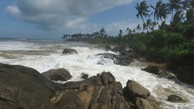 Der schöne Indische Ozean der Zeitlupe stock video