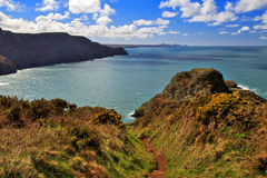 Der schöne Küstenweg Pembrokeshire stockfotografie