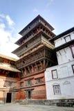 Der schöne neun Geschosse Basantapur-Turm in nasalem Chowk-Hof Stockbild