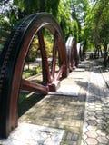Der schöne Park in der Zuckerrohrfabrik von sondokoro Solo stockfoto