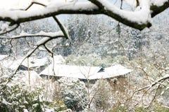 Der schöne Schnee von San Tanggai No2 Stockfoto