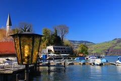Der schöne See Thun - Thunersee auf Deutsch Stockfoto
