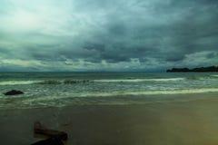 Der schöne Strand bei Labuan malaysia stockfoto