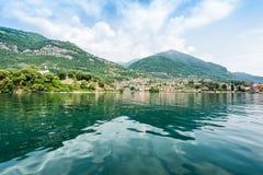 Der sch?nste See auf der Welt Lago Como Lombardei, Italien lizenzfreies stockbild