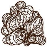 Der Schablonenweg element Bunte grafische Abbildung Muster Eine Farbe Auch im corel abgehobenen Betrag lizenzfreie abbildung