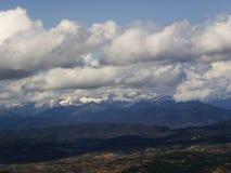 Der Schatten der Wolken Stockbild