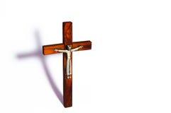 Der Schatten des Kreuzes Stockbilder