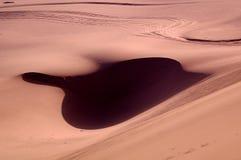 Der Schatten mögen ein Blatt in der Wüste Lizenzfreie Stockbilder