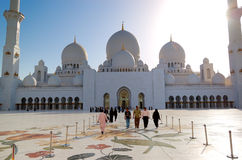 Der Scheich Zayed Grand Mosque Stockfoto