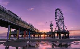 Der Scheveningen-Pier stockfotos