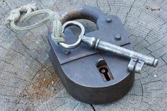 Der Schlüssel und der Verschluss Stockfotos