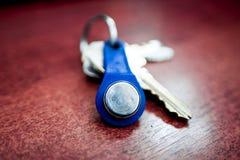 Der Schlüssel zum doorphone stockbilder