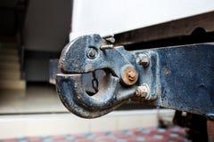 Der Schleppenhaken in einem LKW Stockfoto