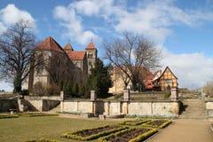 Der Schlossberg in Quedlinburg lizenzfreies stockfoto