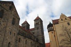 Der Schlossberg in Quedlinburg lizenzfreies stockbild