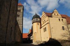 Der Schlossberg in Quedlinburg lizenzfreie stockfotos