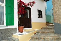 Der schmale Weg der Insel von Samos Stockfotografie