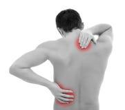 Der Schmerz Rückseite innen Lizenzfreies Stockbild