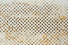 Der Schmutz-Beschaffenheitshintergrund des Schmutzlichtes rostige eines Metalleisens mit Raute formt Lizenzfreie Stockfotografie