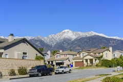 Der schneebedeckte Berg Baldy Lizenzfreies Stockbild