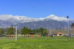 Der schneebedeckte Berg Baldy Lizenzfreie Stockbilder